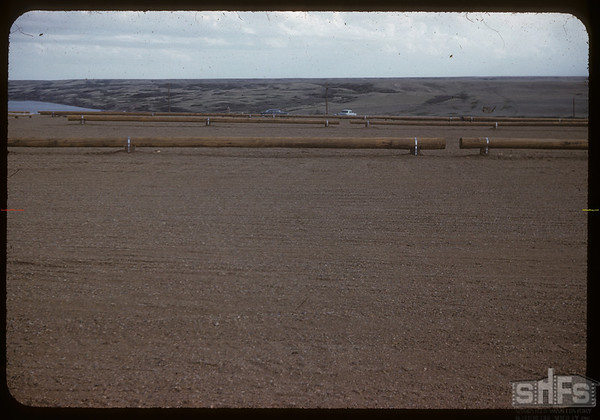 Parking space to view construction of Gardiner Dam.  Strongfield.  06/09/1959
