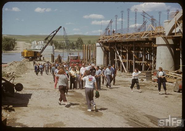 Swift Current Co-op School at New Bridge. Sask. Landing 07/04/1950