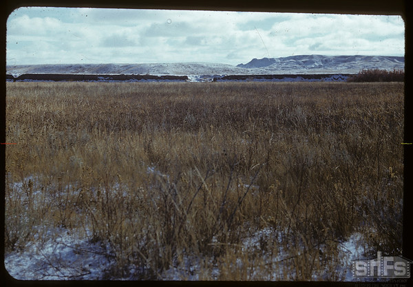 70 Mile Butte and banks of the White  Mud.  Val Marie.  10/31/1951