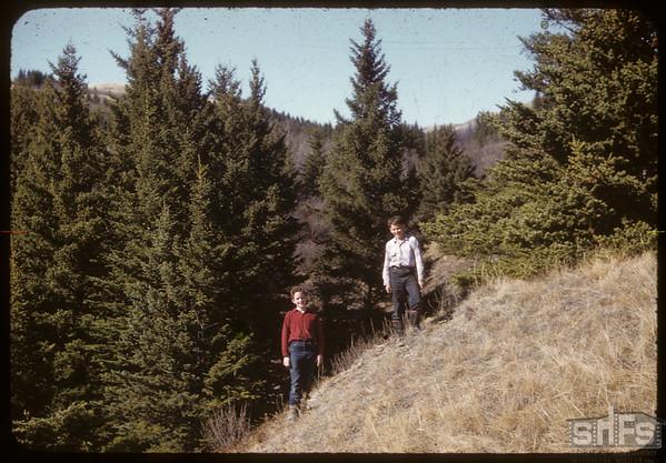 Jack Nelson and Ted Sharp..  Shaunavon.  04/15/1956