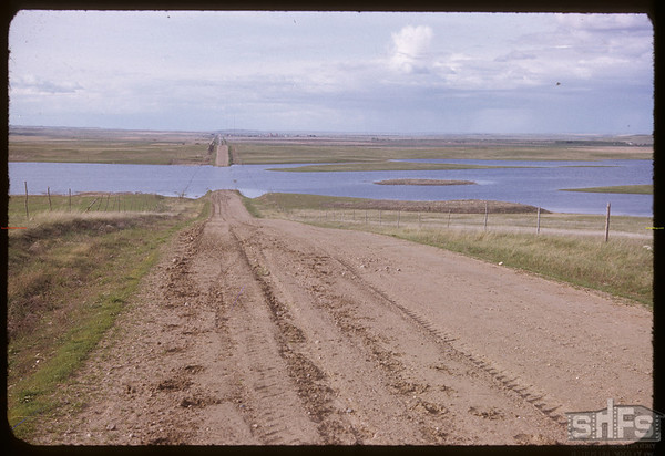 Water over highway #4 south of Val Marie.  Val Marie.  05/20/1952