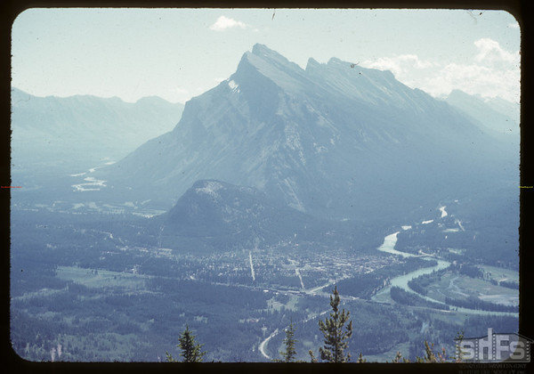 Mount Rundle from chair lift..  Banff.  07/29/1951