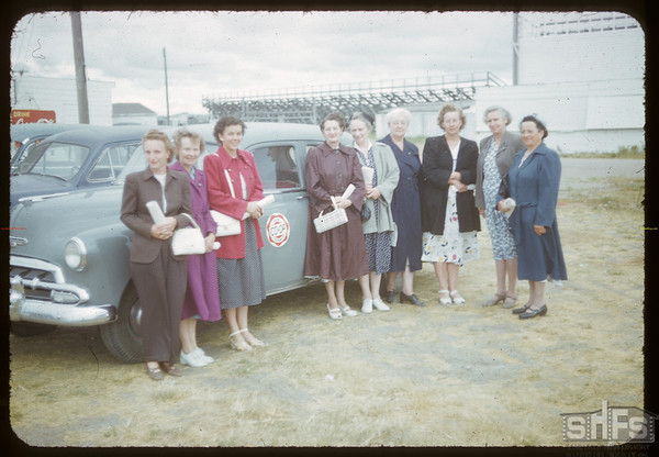 Shaunavon Women's Co-op Guild at S. C. Co-op School.  Swift Current.  07/10/1952