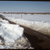Snowy road south of Shaunavon..  Shaunavon.  04/05/1950