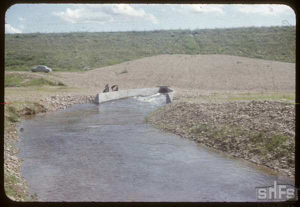 Spillway Duncairn dam N. of Simmie.  Simmie.  07/22/1954