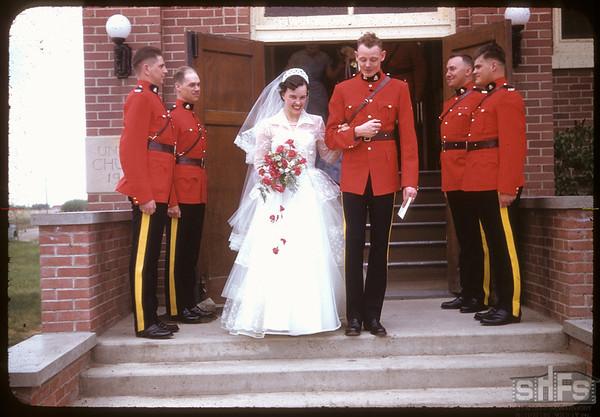 Neidig - Lind wedding.  Shaunavon.  05/26/1956