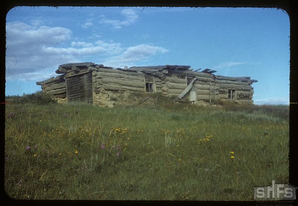 Old Ben Rose home looking NE. Eastend. 08/22/1954