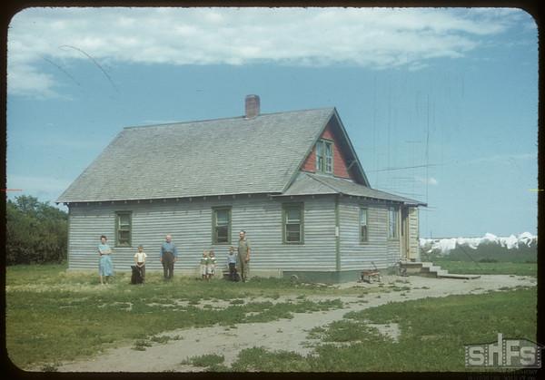 Victor Kalinoski's home.  Shaunavon.  08/24/1954