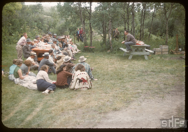 Test Plot Picnic Pine Cree Park.  South Fork.  07/27/1956