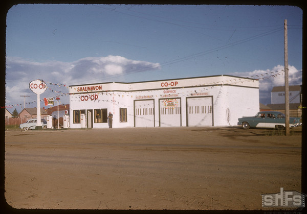 Official opening Co-op service station.  Shaunavon.  06/27/1957