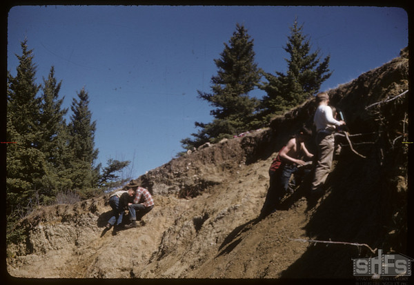 Boy Scouts Mining Fossils.  South Fork.  04/28/1957