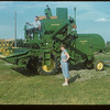 Elmer Munford - his combine and his June.  McCord.  08/13/1954
