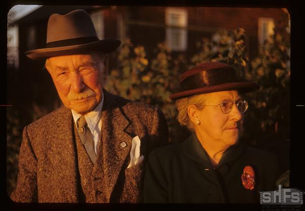 Mr & Mrs. Angus McKay (613 River Street); Angus transferred Hudson Bay Post at Fort Pitt to Hudson Bay Post at la Corne in 1889. Prince Albert 09/24/1950