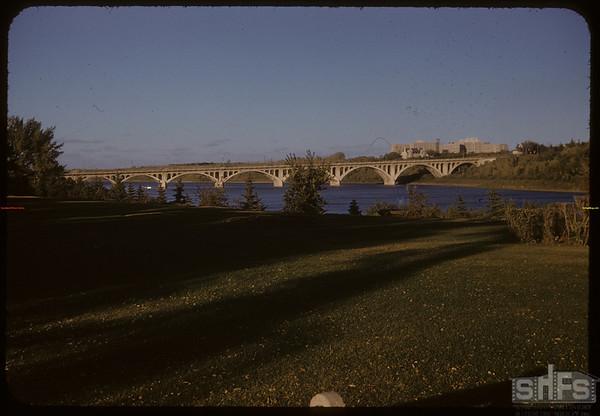University Avenue Bridge.  Saskatoon.  09/09/1955