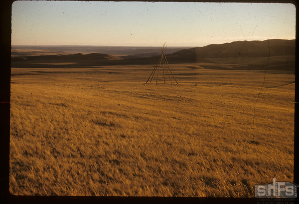 Sitting Bull's winter camp? Lookking SW.  South Fork.  10/28/1958