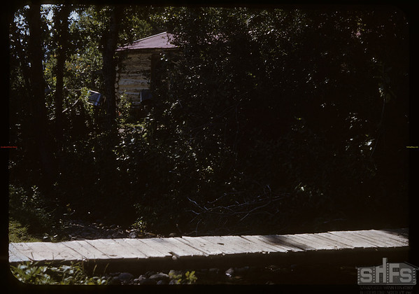 Bridge over mountain stream - Johnny Grobowski's.  South Fork.  09/20/1950