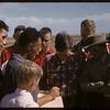 Steve Buzinski explains process to Test Plot boys.  Swift Current.  08/05/1957