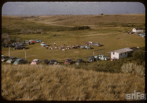Co-op Women's Guild picnic at Rock Avon Park.  Shaunavon.  08/12/1956