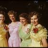 Sweet girl graduates.  Joyce Stampnick - Jean Patterson - Leona Wber & Joyce Anderson..  Shaunavon.  06/05/1952