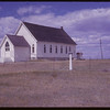 White Valley Lutheran Church and NWMP Trail Marker - Terry Envik helped plant six of the markers.  Shaunavon.  08/10/1961