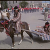 Shaunavon Jubilee Parade - Native pony with travois.	 Shaunavon. 07/18/1963