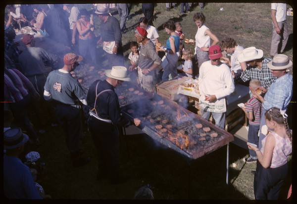 Annual Co-op picnic at Maple Leaf Hall.	 Shaunavon.	 07/01/1963
