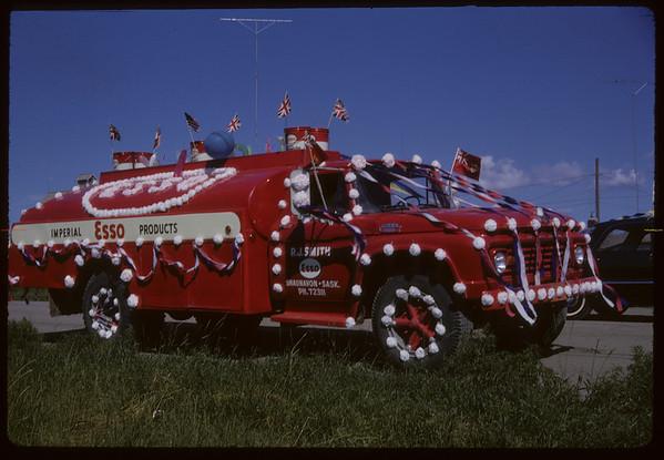 Shaunavon Jubilee Parade - ESSO Delivery Truck. Shaunavon. 07/17/1963