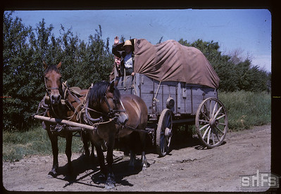 Aneroid's Jubilee parade - Henry Begin - Homesteading outfit Aneroid 07/06/1963