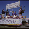 Shaunavon Jubilee Parade - Royal Purple float.  Shaunavon.  08/17/1963