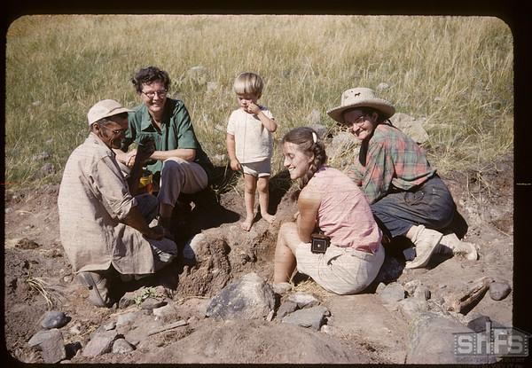 Archaeologists on the White Mud. Bracken. 07/17/1960