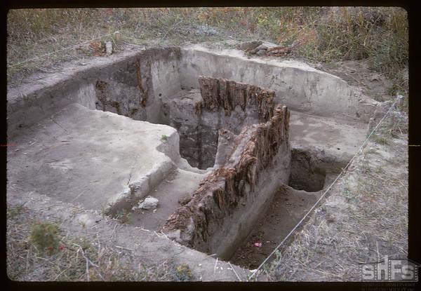 Exposed palisade. Fort Carleton. 09/12/1965