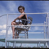 Shaunavon's new swimming pool - life guard from Govan.  Shaunavon.  07/16/1963