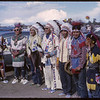 Shaunavon Jubilee Parade - Assiniboine Indian Dancers from Harlem, Montana.  Shaunavon.  07/18/1963