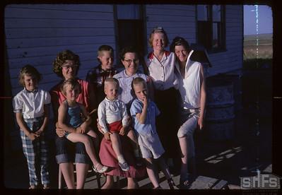 Mel Bakken's family & Elaine Wright. Bracken. 07/25/1962