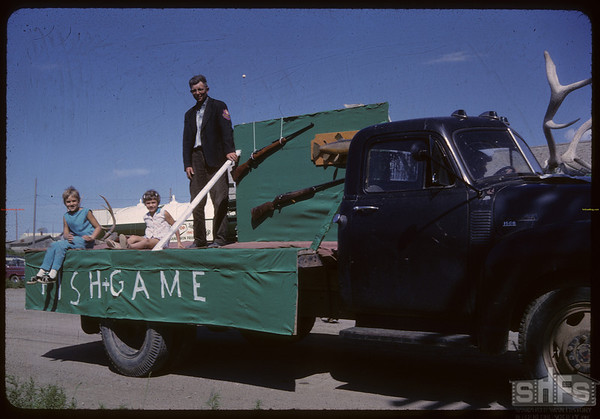 Shaunavon Jubilee Parade - Fish and Game League.  Shaunavon.  07/17/1963