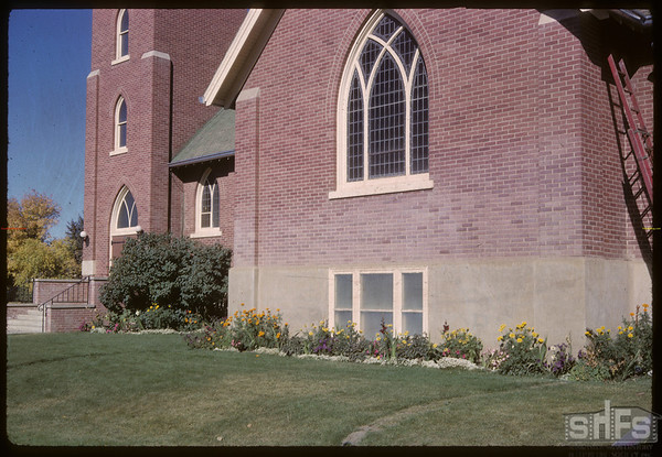Cleo Mitchell flowers at Shaunavon United Church lasted till mid-Oct..  Shaunavon.  09/21/1962
