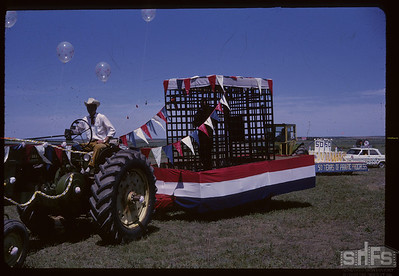 Aneroid's Jubilee parade - Old Hoosegow as a float. Aneroid. 07/06/1963