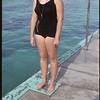 Shaunavon's new swimming pool - Diane Halderman pool life guard.  Shaunavon.  09/02/1965