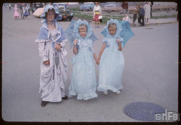 Shaunavon Jubilee Parade - Ladies of 1913.  Shaunavon.  07/18/1963