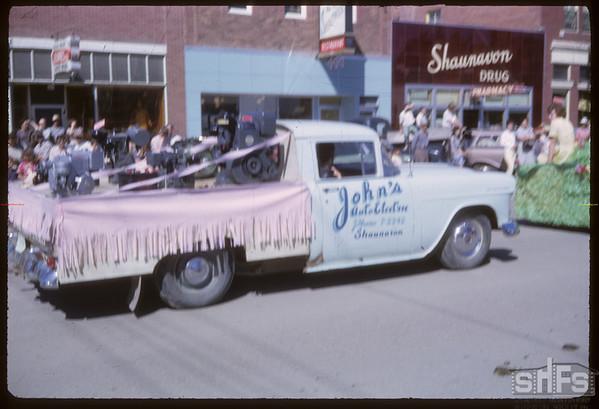 Rodeo Parade - John's Auto Electric.  Shaunavon.  07/20/1964