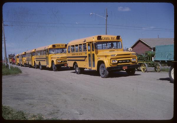 Shaunavon Jubilee - School Bus Train. Shaunavon. 07/17/1963