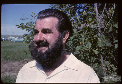 Eric Corbin with prize beard - Aneroid Jubilee. Aneroid. 07/06/1963