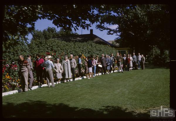 SHFS visits Henry Tasche home. Eastend. 08/30/1964
