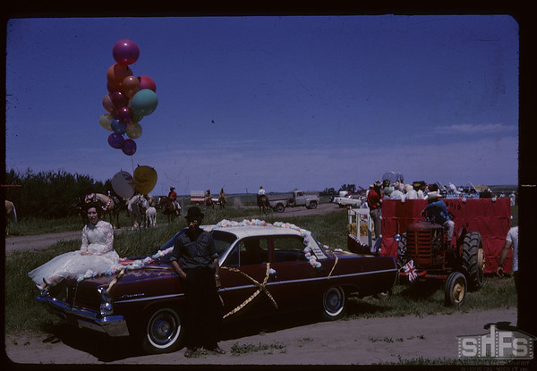 Aneroid's Jubilee parade. Aneroid. 07/06/1963
