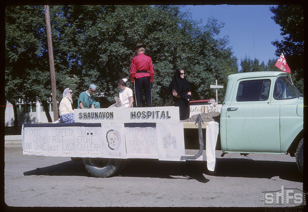 Rodeo Parade - Hospital Float.  Shaunavon.  07/20/1964