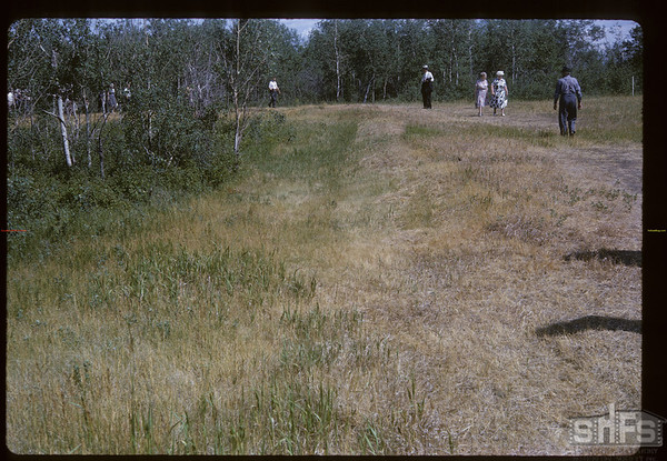 Last of Middleton's trenches. Batoche. 07/04/1964