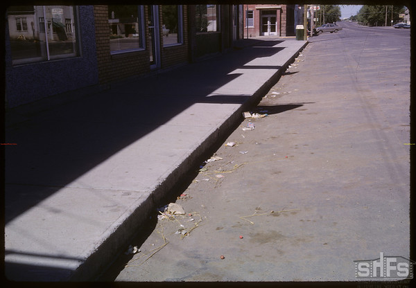 Trash along Centre Street.  Shaunavon.  09/05/1966