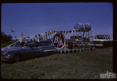 Aneroid's Jubilee parade - BA Oil float. Aneroid. 07/06/1963
