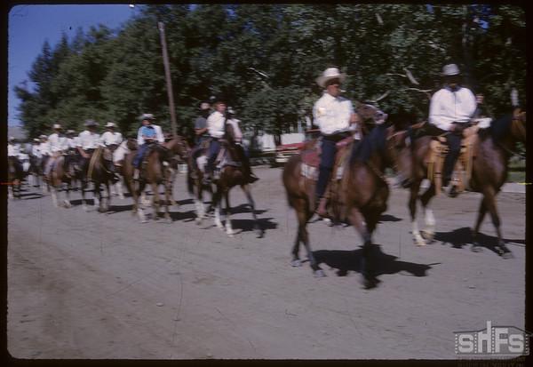 Rodeo Parade - Riding Club.  Shaunavon.  07/20/1964