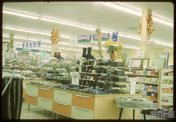 Co-op store display. North Battleford. 11/01/1963